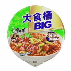 康师傅泡椒牛肉大食桶方便面