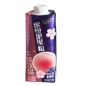 伊利优酸乳缤纷果果粒牛奶